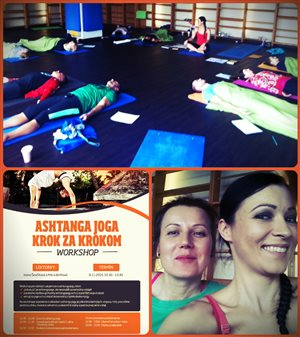workshop Ashtanga V Body Energy Club s Ivonou a so mnou