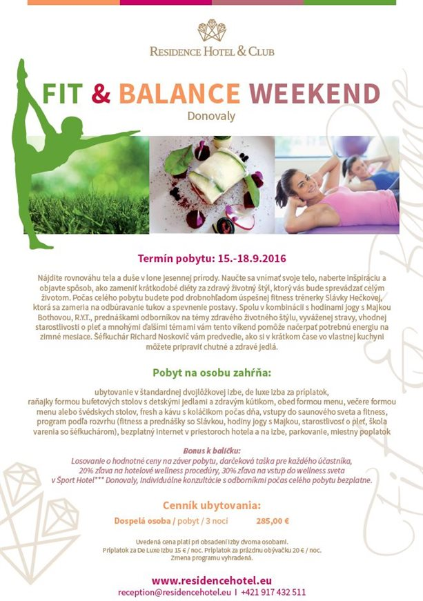 FIT & BALANCE WEEKEND